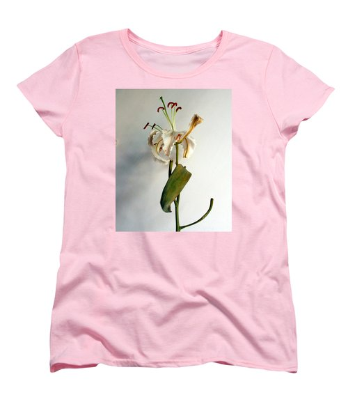 Women's T-Shirt (Standard Cut) featuring the photograph Last Moments by Pravine Chester