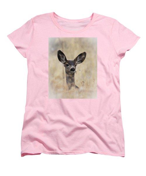 Little Fawn Women's T-Shirt (Standard Cut) by Steve McKinzie