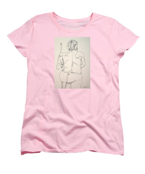 The Naked Man Hiking Women's T-Shirt (Standard Cut) by Rand Swift