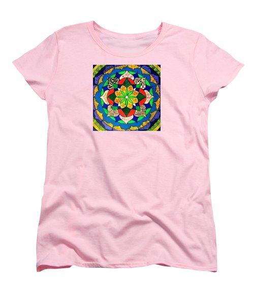 Mandala Circle Of Life Women's T-Shirt (Standard Cut) by Sandra Lira