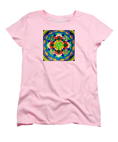 Mandala Circle Of Life Women's T-Shirt (Standard Cut)