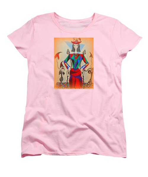 Women's T-Shirt (Standard Cut) featuring the painting Metamorphosis Of Eleonore by Marie Schwarzer
