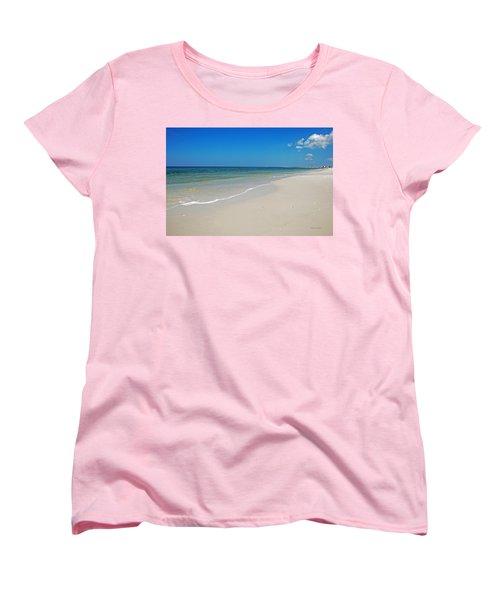 Women's T-Shirt (Standard Cut) featuring the photograph Mexico Beach by Kay Lovingood