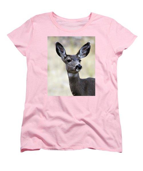 Mule Deer Doe Women's T-Shirt (Standard Cut) by Steve McKinzie