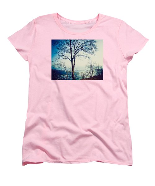 Women's T-Shirt (Standard Cut) featuring the photograph Mystic Blue by Sara Frank