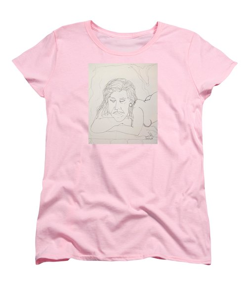 Nude Contour In Ink Women's T-Shirt (Standard Cut)