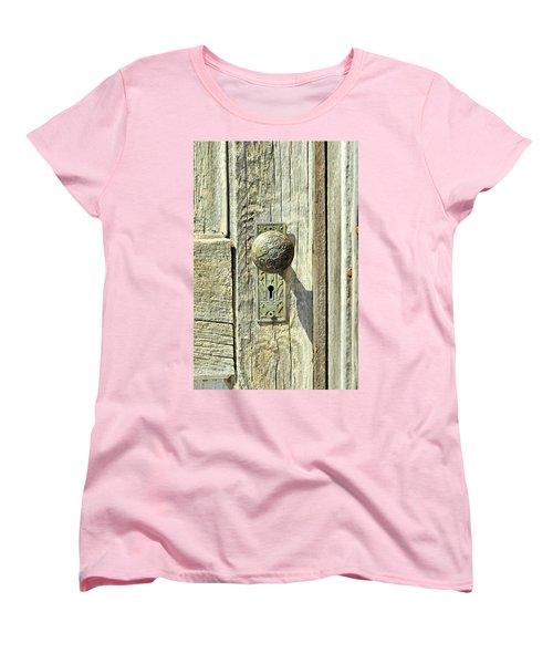 Women's T-Shirt (Standard Cut) featuring the photograph Patina Knob by Fran Riley