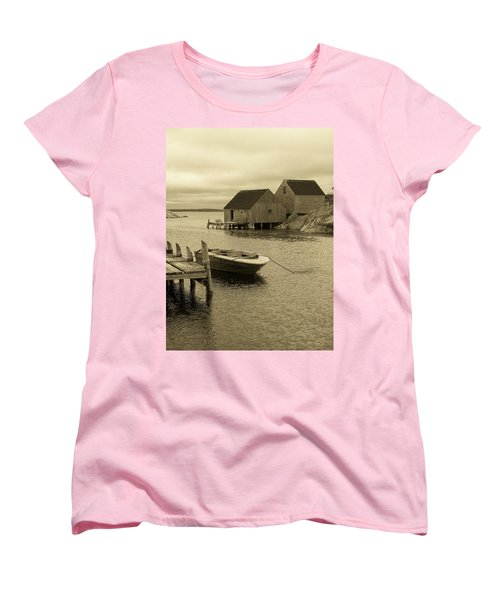 Peggys Cove In Sepia Women's T-Shirt (Standard Cut) by Richard Bryce and Family