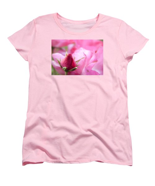 Women's T-Shirt (Standard Cut) featuring the photograph Pink Rose by Jeannette Hunt