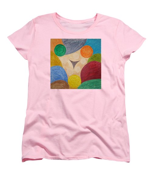 Women's T-Shirt (Standard Cut) featuring the painting Power Of Colors by Sonali Gangane