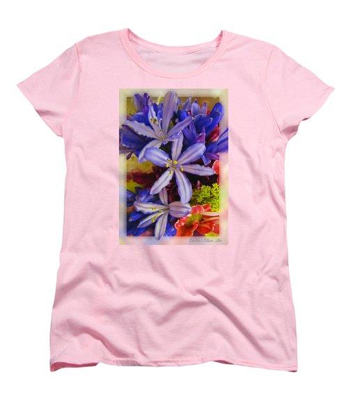 Women's T-Shirt (Standard Cut) featuring the photograph Purple Stars by Debbie Portwood
