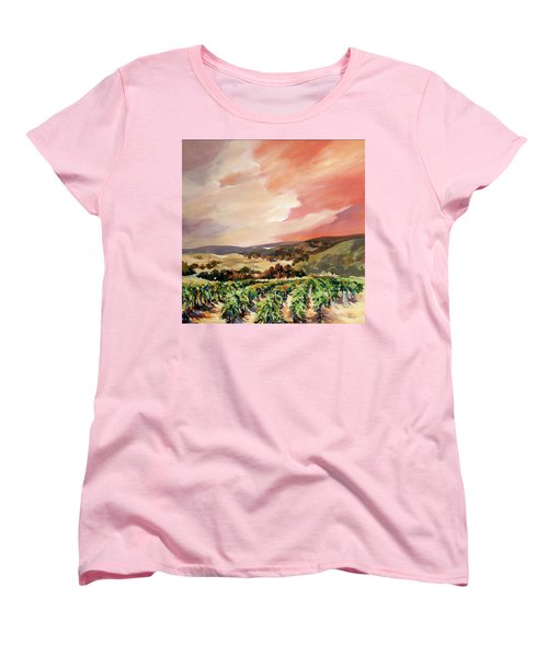 Rolling Vineyards 2 Women's T-Shirt (Standard Cut) by Rae Andrews