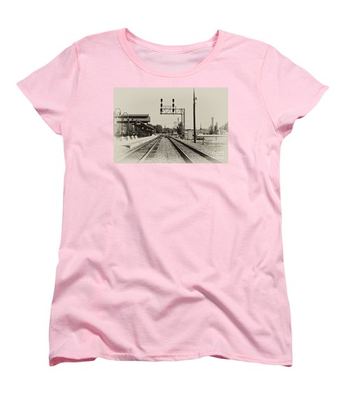 Salisbury North Carolina Depot Women's T-Shirt (Standard Cut) by Wilma  Birdwell
