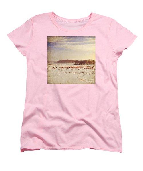 Snowy Landscape Women's T-Shirt (Standard Cut) by Lyn Randle