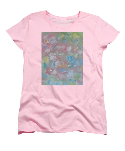 Women's T-Shirt (Standard Cut) featuring the painting Softly Spoken by Judith Rhue