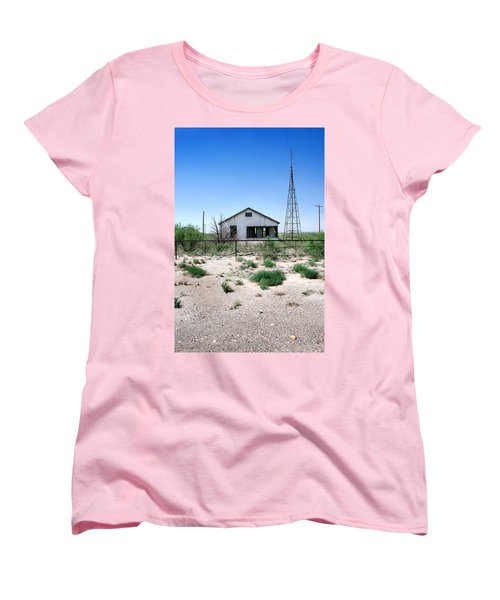 Women's T-Shirt (Standard Cut) featuring the photograph Somewhere On The Old Pecos Highway Number 5 by Lon Casler Bixby