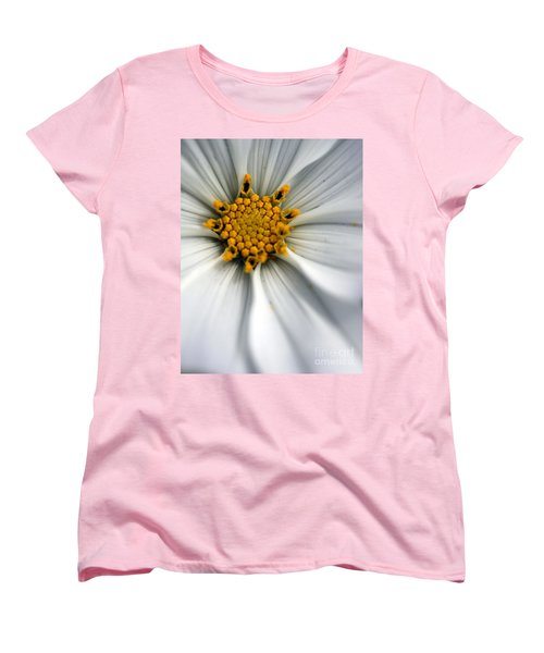 Women's T-Shirt (Standard Cut) featuring the photograph Sonata Cosmos White by Henrik Lehnerer