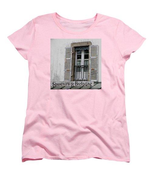 Women's T-Shirt (Standard Cut) featuring the photograph Souvenirs De Bretagne by Lainie Wrightson