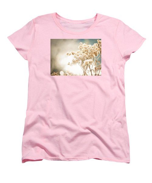 Women's T-Shirt (Standard Cut) featuring the photograph Sparkly Weeds by Cheryl Baxter