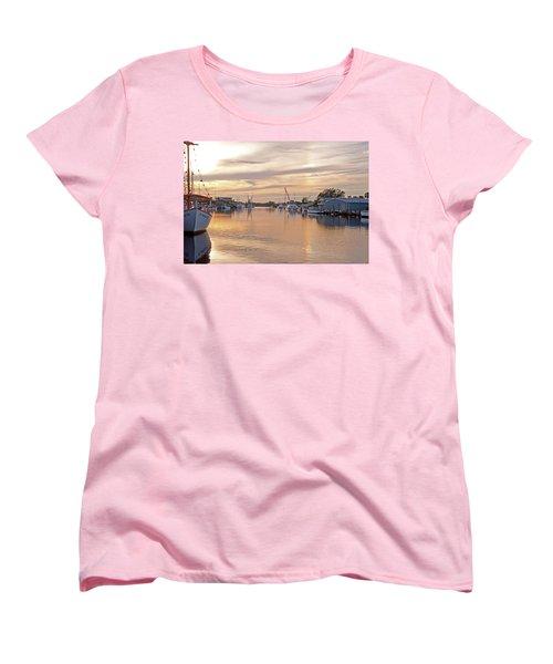 Tarpon Springs Sunset Women's T-Shirt (Standard Cut) by John Black