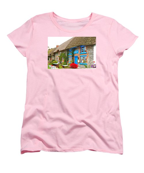 Women's T-Shirt (Standard Cut) featuring the photograph The Blue Door by Charlie and Norma Brock