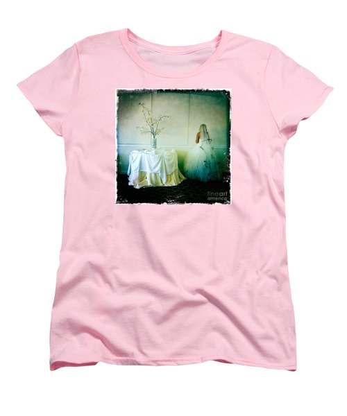 Women's T-Shirt (Standard Cut) featuring the photograph The Bride Takes A Moment by Nina Prommer