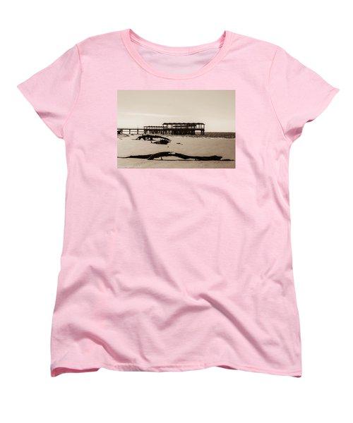 Women's T-Shirt (Standard Cut) featuring the photograph The Pier by Shannon Harrington