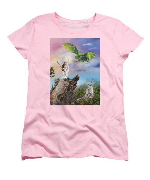 Women's T-Shirt (Standard Cut) featuring the painting The Summoning by Lori Brackett