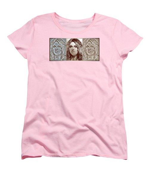 Three Interpretations Of Celine Dion Women's T-Shirt (Standard Cut) by J McCombie