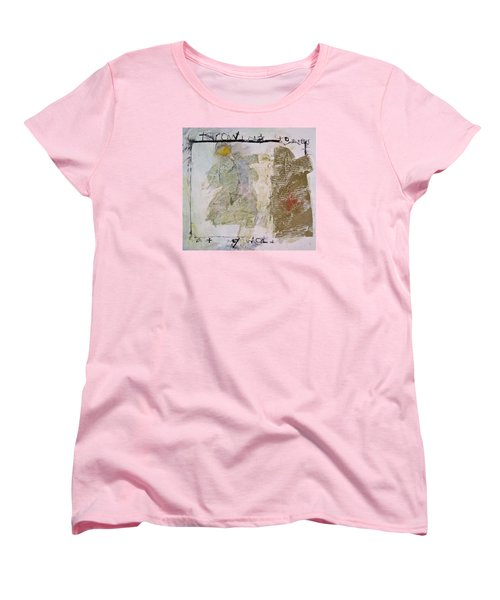 Women's T-Shirt (Standard Cut) featuring the painting Throwing Stones At My World by Cliff Spohn