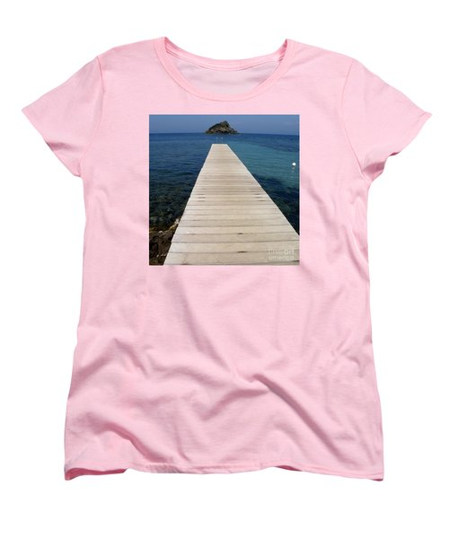 Women's T-Shirt (Standard Cut) featuring the photograph Tranquility  by Lainie Wrightson