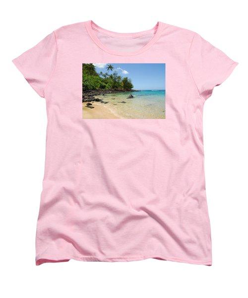 Women's T-Shirt (Standard Cut) featuring the photograph Tropical Paradise by Lynn Bauer
