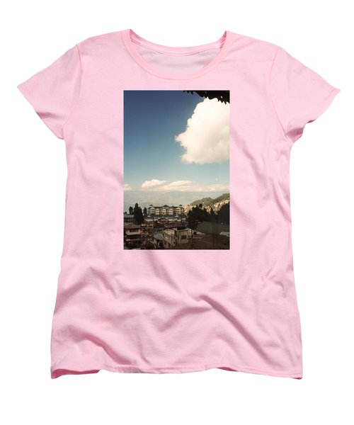 Women's T-Shirt (Standard Cut) featuring the photograph View From The Window by Fotosas Photography