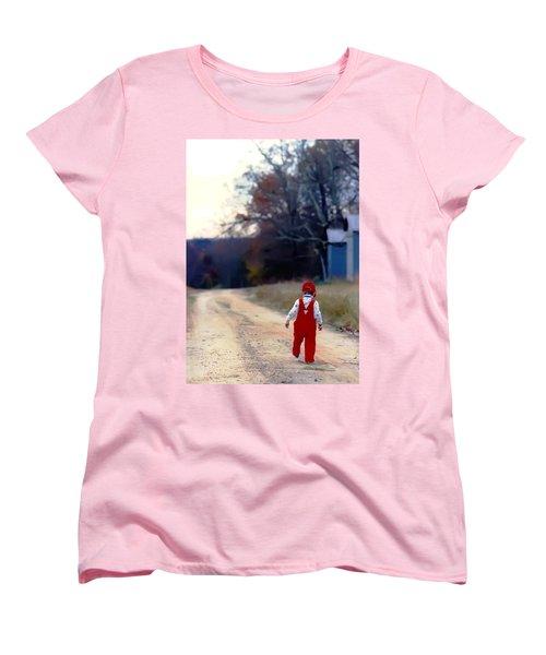 Walking On Pawpaw's Road Women's T-Shirt (Standard Cut) by KG Thienemann