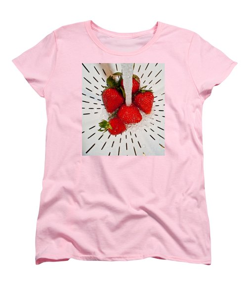 Women's T-Shirt (Standard Cut) featuring the photograph Water For Strawberries by David Pantuso