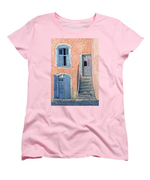 Women's T-Shirt (Standard Cut) featuring the photograph Window And Doors Provence France by Dave Mills