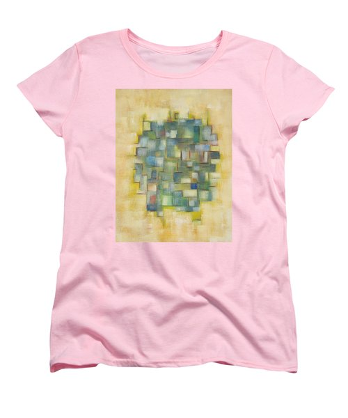 Yellow With Green  Women's T-Shirt (Standard Cut) by Patricia Cleasby