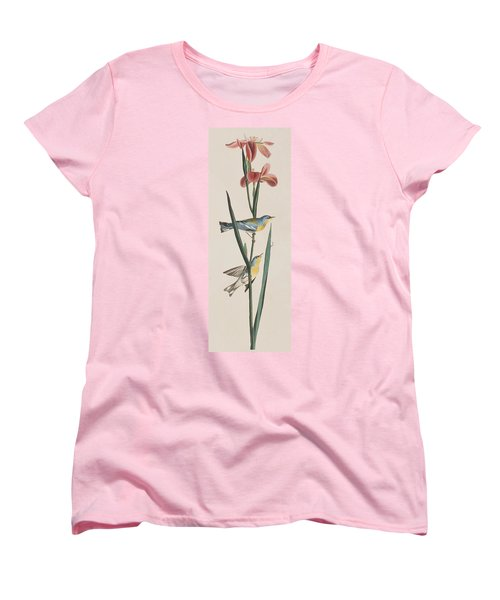 Blue Yellow-backed Warbler Women's T-Shirt (Standard Cut) by John James Audubon