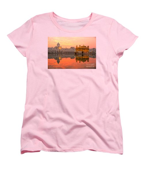 Golden Temple Women's T-Shirt (Standard Cut) by Luciano Mortula