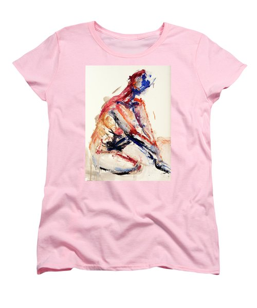 04996 Sunburn Women's T-Shirt (Standard Cut) by AnneKarin Glass