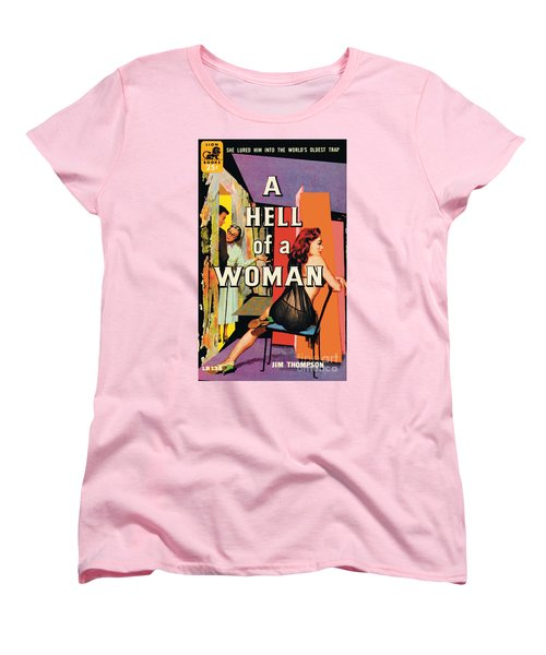 Women's T-Shirt (Standard Cut) featuring the painting A Hell Of A Woman by Morgan Kane