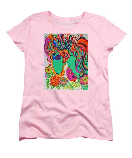 A Rainbow Called Romeo Women's T-Shirt (Standard Cut) by Alison Caltrider