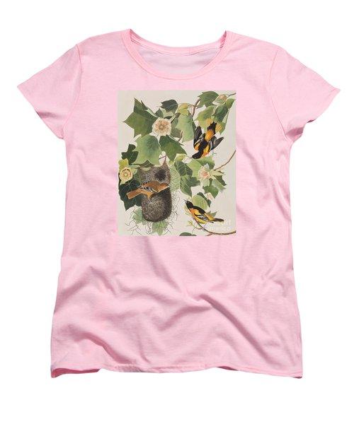 Baltimore Oriole Women's T-Shirt (Standard Cut) by John James Audubon