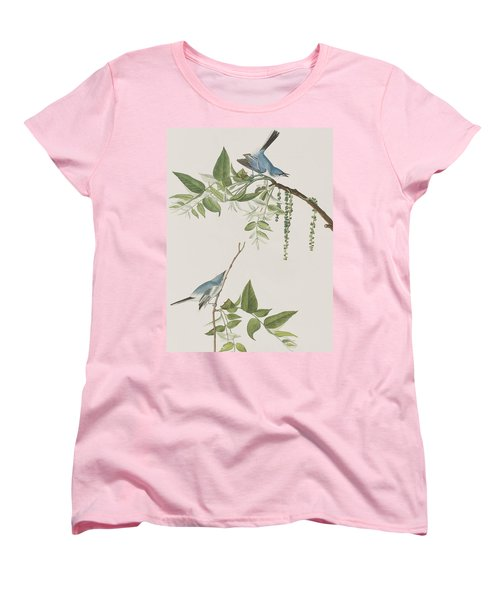 Blue Grey Flycatcher Women's T-Shirt (Standard Cut) by John James Audubon