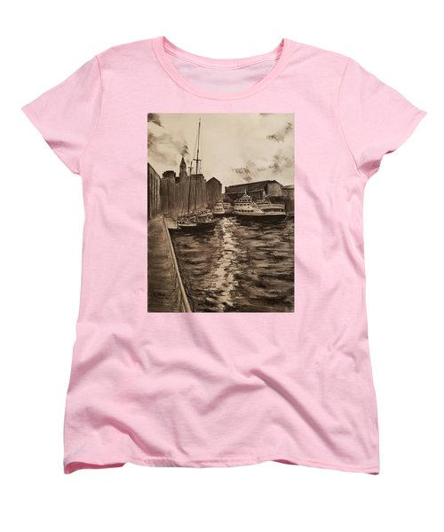 Boston Harbor Women's T-Shirt (Standard Cut) by Rose Wang