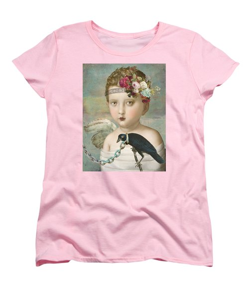 Women's T-Shirt (Standard Cut) featuring the digital art Broken Wing by Lisa Noneman