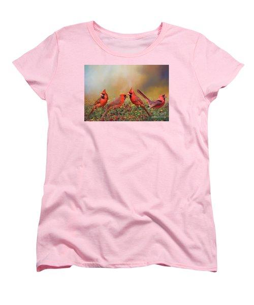 Cardinal Quartet Women's T-Shirt (Standard Cut) by Bonnie Barry