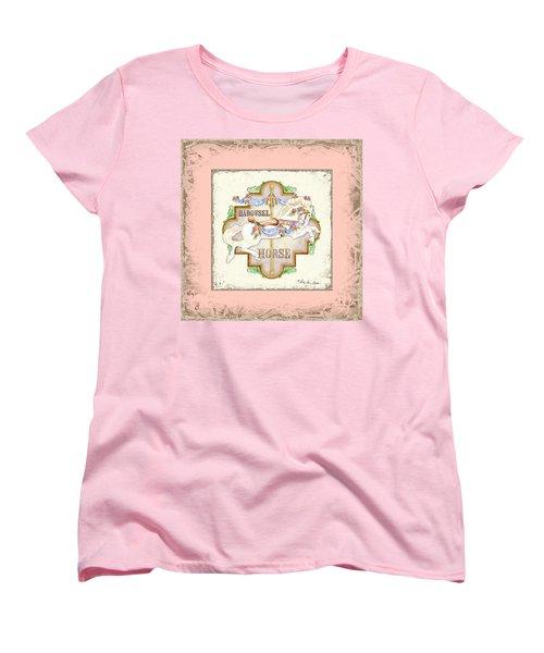 Carousel Dreams - Horse Women's T-Shirt (Standard Cut) by Audrey Jeanne Roberts