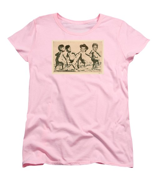 Celebrity Etchings - One Direction   Women's T-Shirt (Standard Cut) by Serge Averbukh