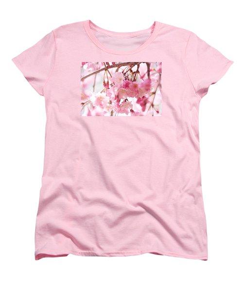 Cherry Blossoms Women's T-Shirt (Standard Cut) by Trina Ansel